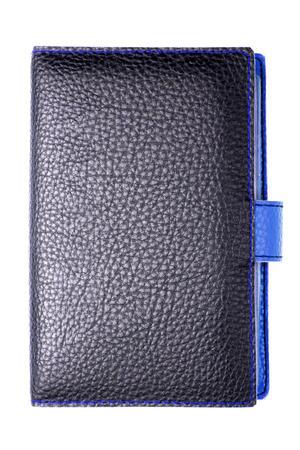 leather notebook isolated on white background