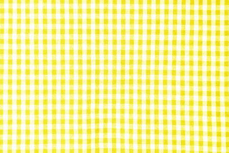 Foto de Yellow table cloth texture background, tablecloth top view - Imagen libre de derechos