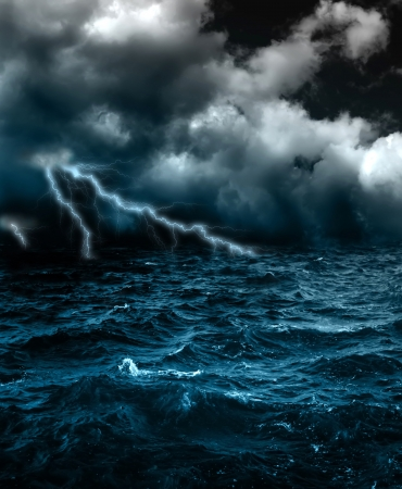 Photo pour A terrible storm - image libre de droit