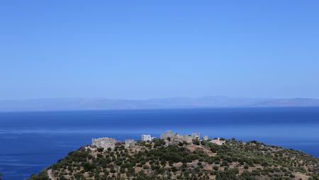 Village and coastline of Agios Kyprianos, magne, Peloponnese, Greece