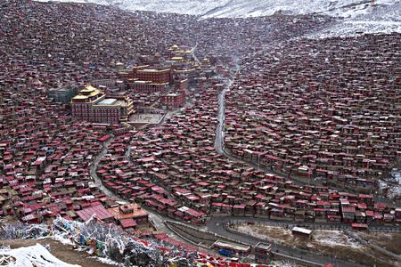 Red houses at Larung Gar Buddhist Academy