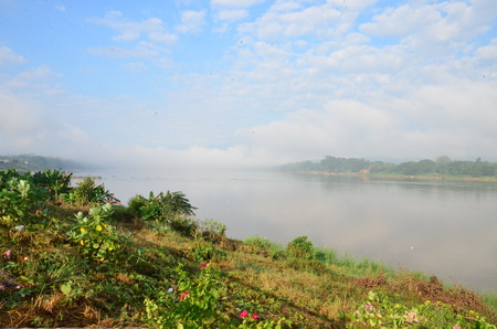 Sky and clouds at Kong river in the morning