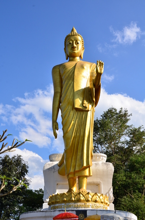 Standing Buddha statue with Blessing