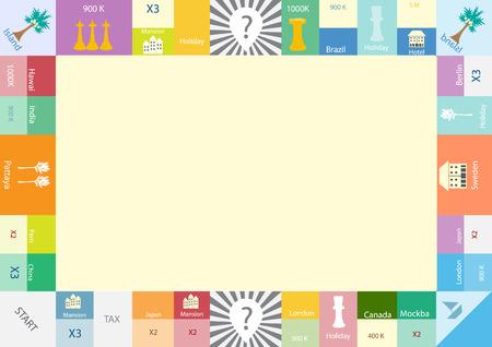 Ilustración de Frame of board game , Funny frame for children - Imagen libre de derechos