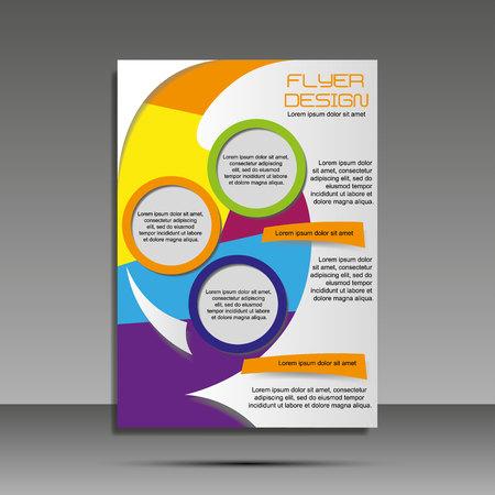 Illustration pour A4 minimal color design. Annual report, brochure, banner, idea cover booklet flyer - image libre de droit