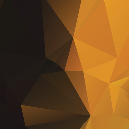 Warm amber colored polygonal abstract background