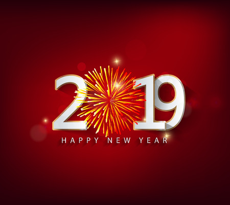 Illustration for Happy new year 2019. Chinese new year. Year of the pig - Royalty Free Image