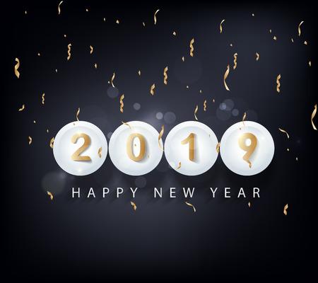 Ilustración de Happy new year 2019. Chinese new year. Year of the pig - Imagen libre de derechos