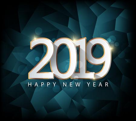 Ilustración de Happy new year 2019 - Imagen libre de derechos