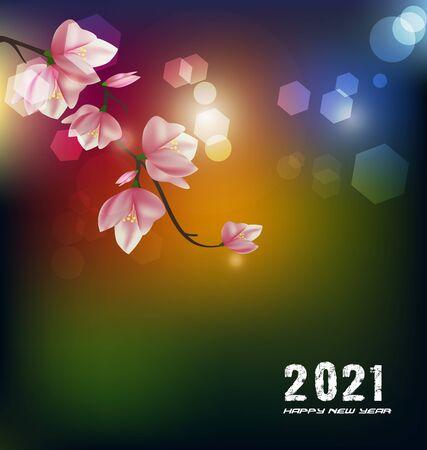 Illustration pour Happy new year 2021 - image libre de droit