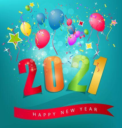 Ilustración de Happy new year 2021 - Imagen libre de derechos