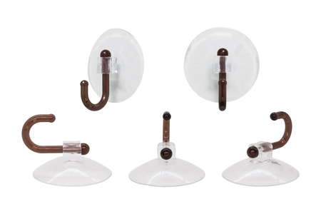 Photo pour Suction cup on white background with clipping path. Hanging hook for montage or your design. - image libre de droit