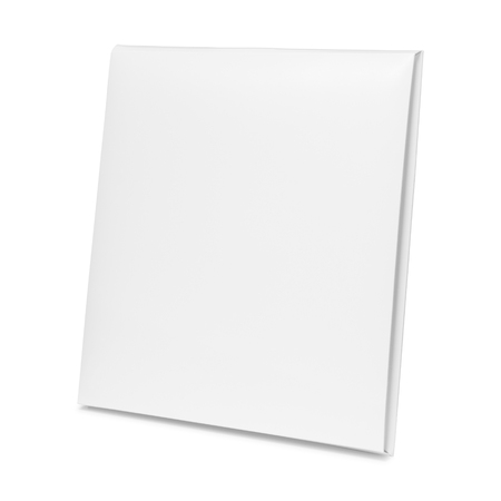 Photo for Blank paper box isolated on white background. Empty cardboard package for design. ( Clipping path ) - Royalty Free Image