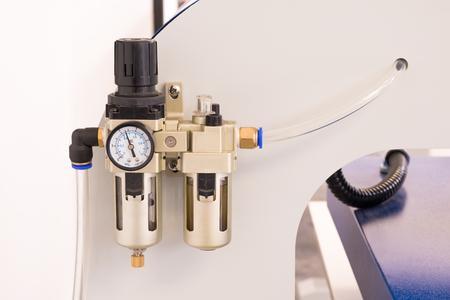 Photo pour Pneumatic valve meter or pressure control machine. - image libre de droit
