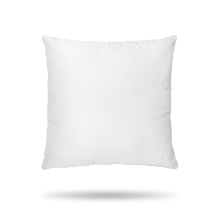 Photo for Blank pillow isolated on white background. Empty cushion for your design. - Royalty Free Image