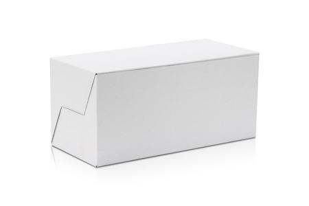 Foto für Blank cardboard box isolated on white background. Template of long box for your design. - Lizenzfreies Bild