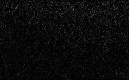 Foto de Falling raindrops isolated on dark background. Heavy rain and weather storm in raining season. - Imagen libre de derechos