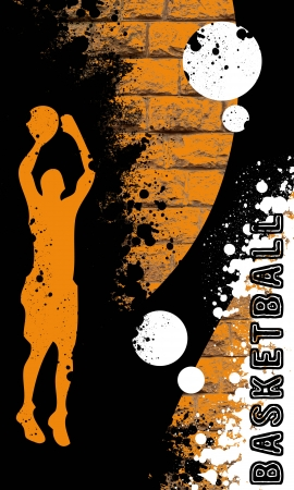 Basketball background with space (poster, web, leaflet, magazine)