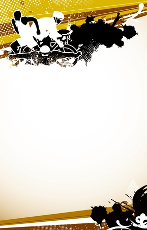 Photo pour Abstract grunge triathlon sport background with space - image libre de droit