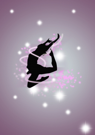 Abstract color streetdance poster background with space