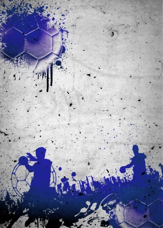 Abstract grunge handball poster or flyer background with space