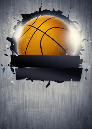Abstract basketball sport invitation poster or flyer background with empty space
