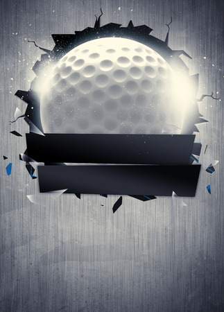 Abstract golf sport invitation poster or flyer background with empty space