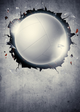 Abstract volleyball sport invitation poster or flyer background with empty space