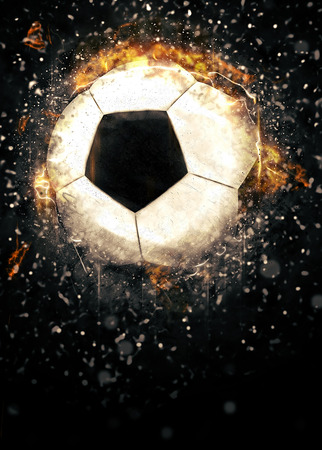 Soccer or football sport poster or flyer background with space