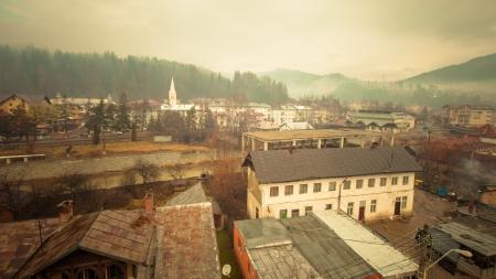 Vatra Dornei ski resort in Romania, general view