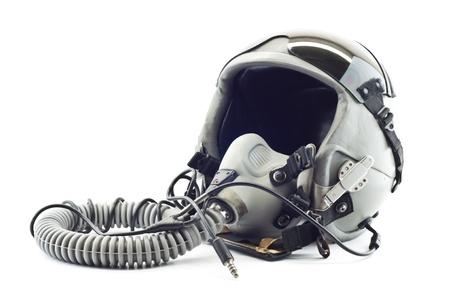 Flight helmet with oxygen mask