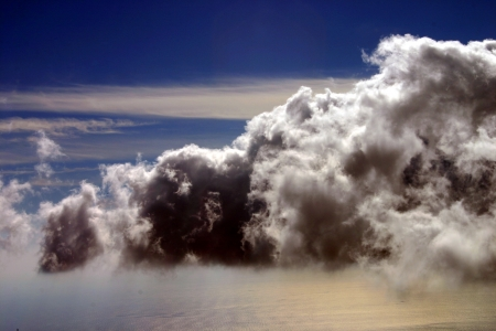 Sorm clouds over sea
