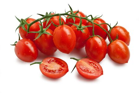 Photo for Cherry Tomato - Piccadilly Isolated on White Background? Italian Food - Royalty Free Image