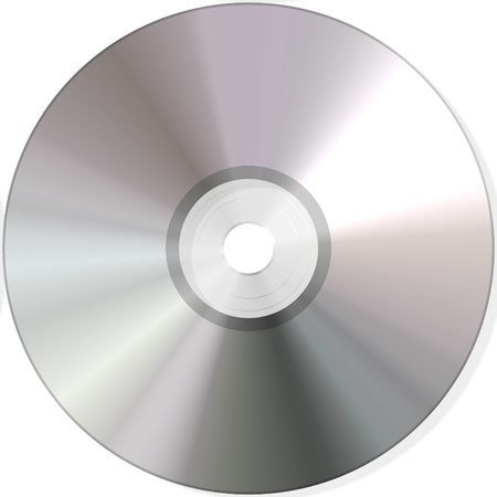 isolated blank dvd