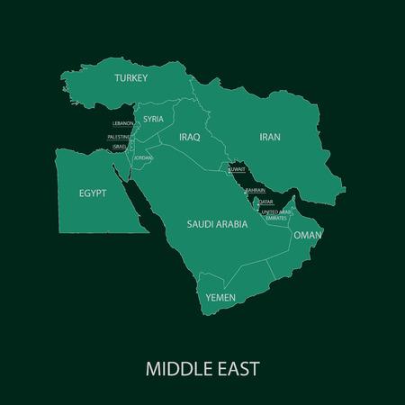 Illustration pour Middle East Map - image libre de droit
