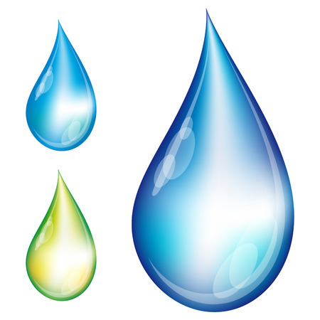 Set of water drops - Illustration for your design