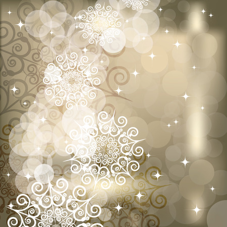 EPS Abstract snowflake  background of holiday lights