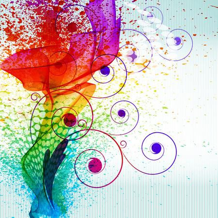 Color paint splashes EPS10