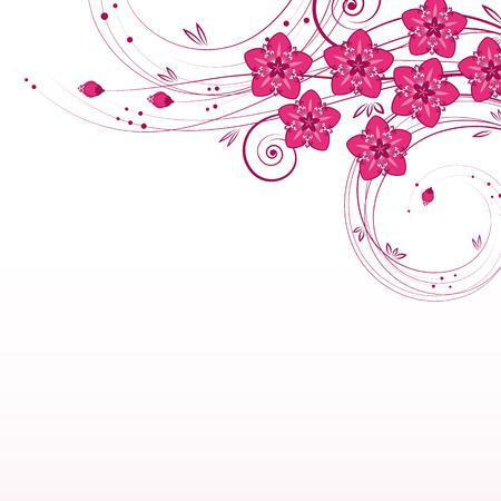 Graceful floral background