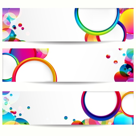 Abstract banner with forms of empty frames.