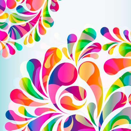 Illustration pour Abstract colorful arc-drop background. Vector. - image libre de droit