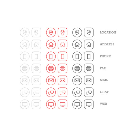 Flat Multipurpose Business Card Icon Set Of Web Icons For Business