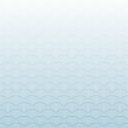 Colorful geometric repetitive vector curvy waves pattern texture background vector graphic illustration