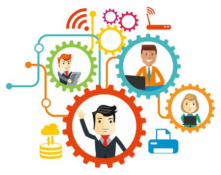 Illustration pour Business team. Cartoon characters. - image libre de droit