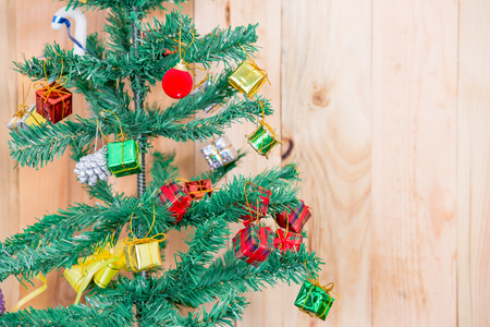 Christmas tree on blurred, sparkling and fairy background