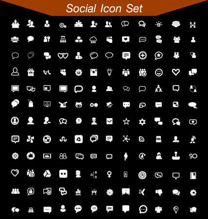 Illustration for Social Icon Set - Royalty Free Image