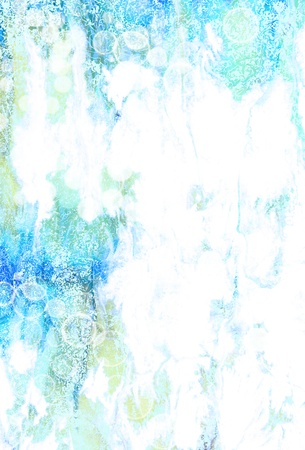Abstract textured background blue cloud-like patterns on white backdrop. For art texture g