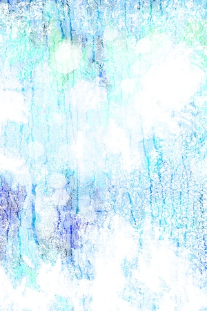 Abstract textured background white patterns on blue sky-like backdrop. For art texture gru