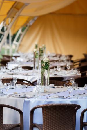 empty wine glasses restaurant interior serving, beautifully served wine glasses
