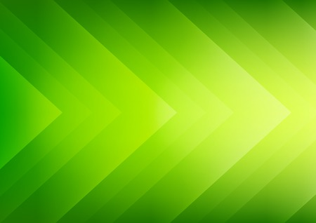 Abstract green ecology theme arrows background for presentation